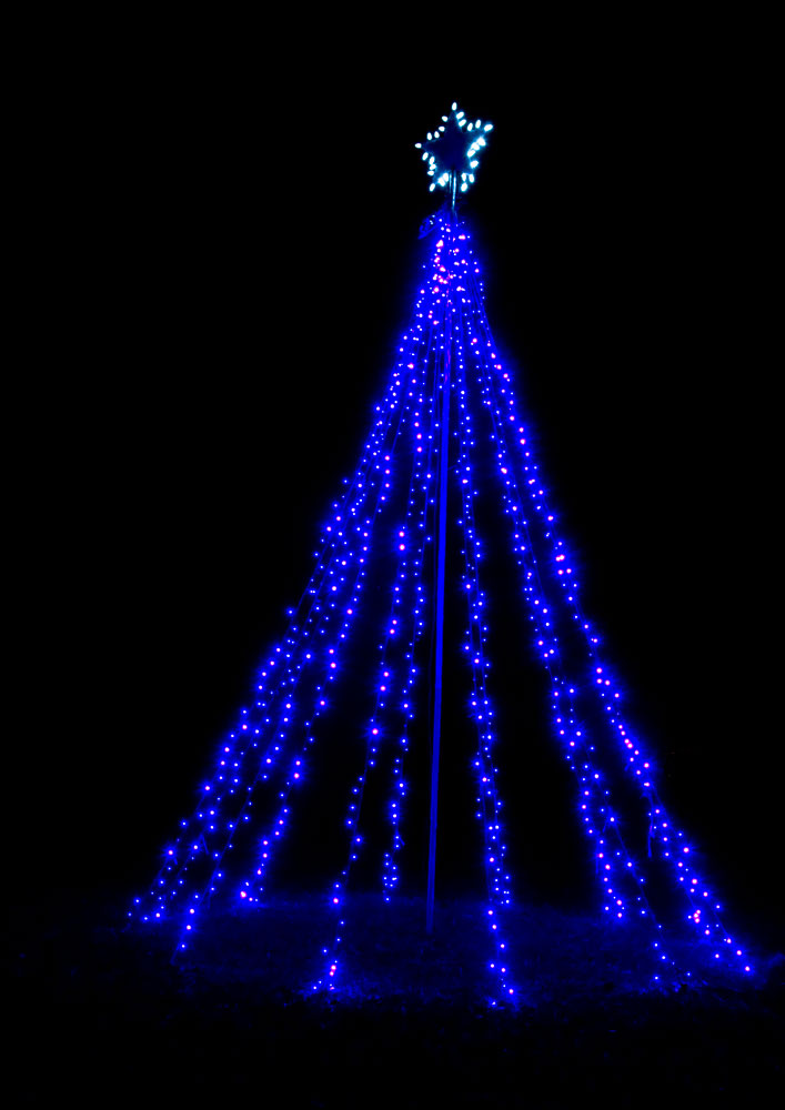 blue light special led - Christmas Tree With Blue Lights