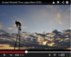 Time Lapse Windmill Sunset
