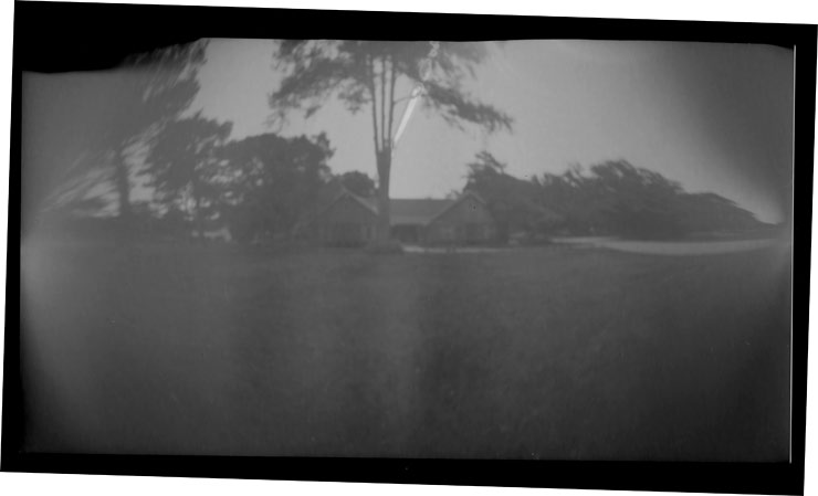 Pinhole Camera Image Inverted. See the path of the sun?