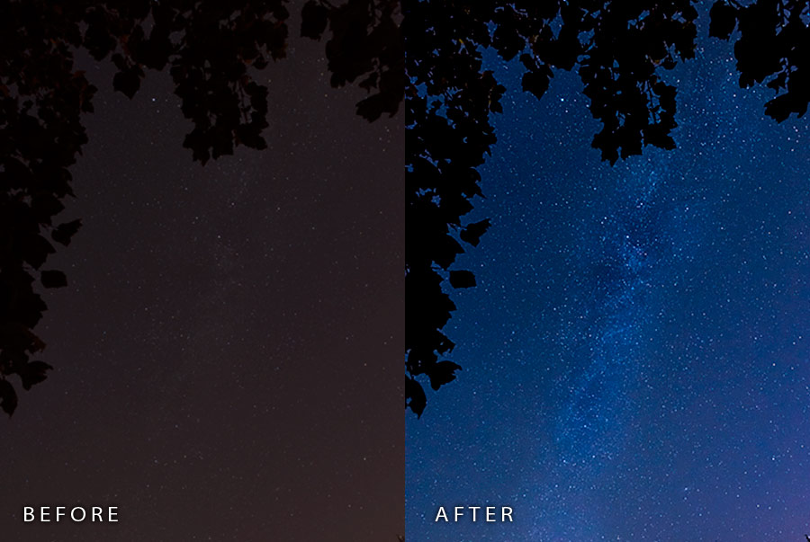 Night Photography Lightroom Presets by Kent Weakley example 1