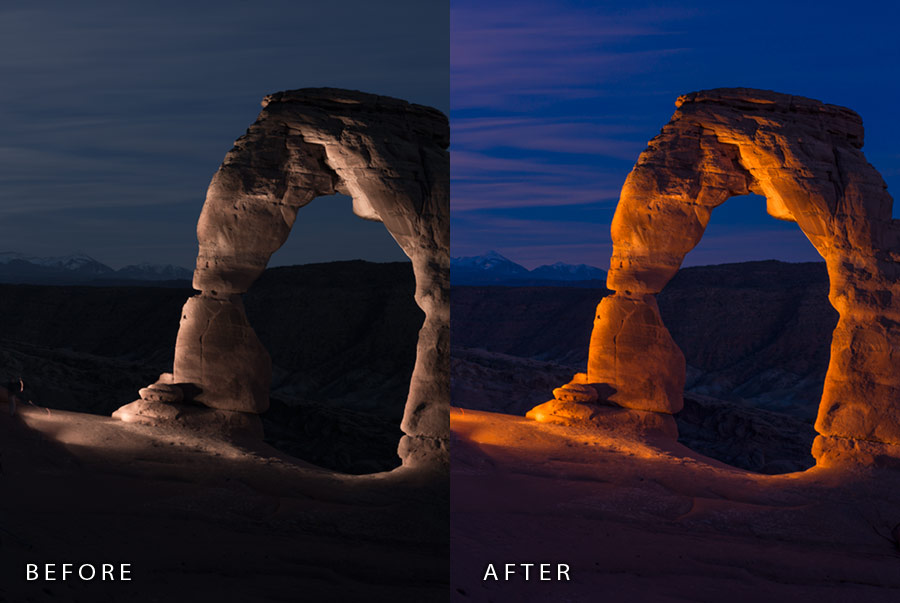 Night Photography Lightroom Presets by Kent Weakley example 2