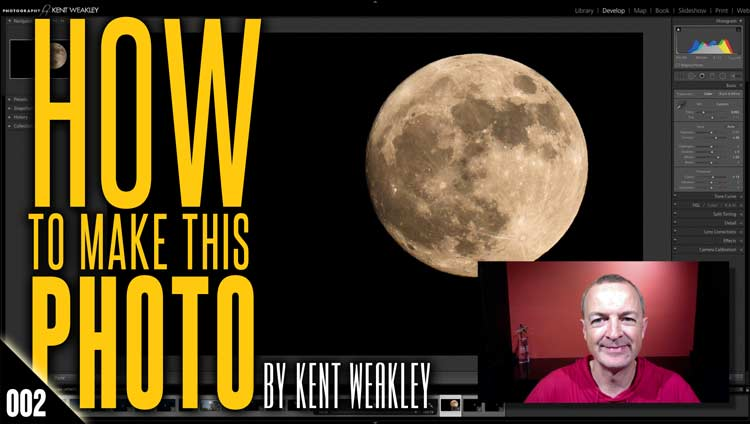 How To Photograph The Moon – How To Make This Photo: 002 – by Kent Weakley